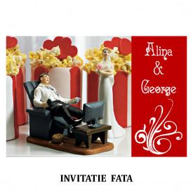 Invitatie Nunta Carte Postala INCP80