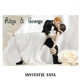 Invitatie Nunta Carte Postala INCP86