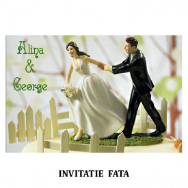 Invitatie Nunta Carte Postala INCP92