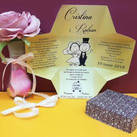 Invitatie Nunta Cutiuta Miri