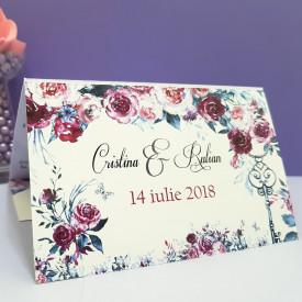 Invitatie Nunta Florale Trandafiri