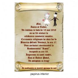 Invitatie Nunta Papirus INPAP13