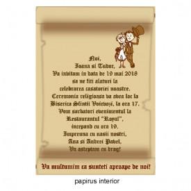 Invitatie Nunta Papirus INPAP18