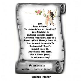 Invitatie Nunta Papirus INPAP3