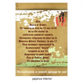 Invitatie Nunta Papirus INPAP8