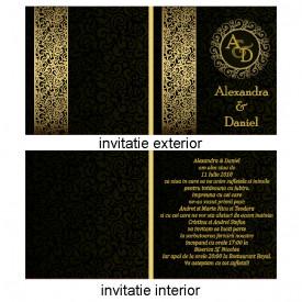 Invitatie Nunta Patrata INPT8