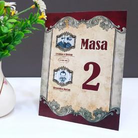 Nr de masa 2 in 1 Nunta-Botez NB5