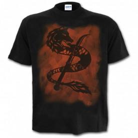 Tricou decolorat personalizat Lupul Dacic