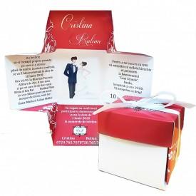 Invitatie Nunta Cutiuta Iubire Red