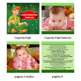 Invitatie Botez Carticica Peter Pan