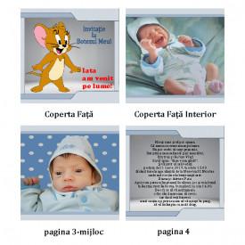 Invitatie Botez Carticica Tom and Jerry