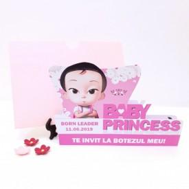 Invitatie Botez Contur Baby Princess 5