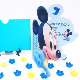 Invitatie Botez Contur Mickey Mouse 5