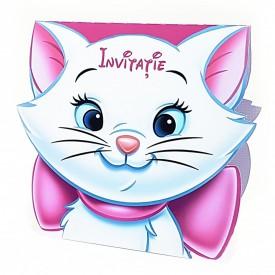 Invitatie Botez Contur Pisicile Aristocrate 2