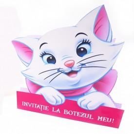 Invitatie Botez Contur Pisicile Aristocrate 4