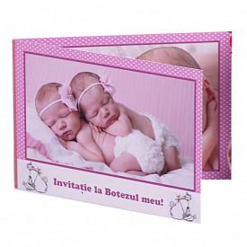 Invitatie Gemeni Dubla 2-Bebeluse Var 2