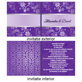 Invitatie Nunta Patrata INPT5