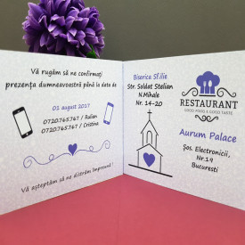 Invitatie Nunta Poveste Paris