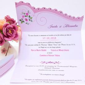 Invitatie Nunta Speciala Roz Prafuit