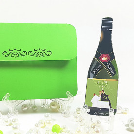 Marturie Nunta Magnet Special Sticla Sampanie