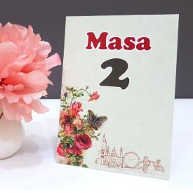 Nr de masa 2 in 1 Nunta-Botez NB8