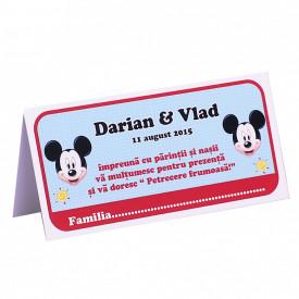 Plic Botez Gemeni 2 Mickey Mouse Var 3