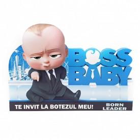 Invitatie Botez Contur Baby Boss 4
