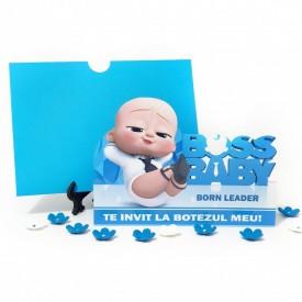 Invitatie Botez Contur Baby Boss 8