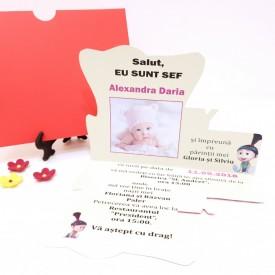 Invitatie Botez Contur Baby Princess 6