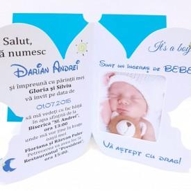 Invitatie Botez Contur Ingeras B6