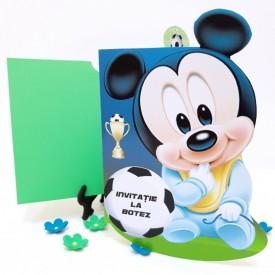 Invitatie Botez Contur Mickey Mouse 15