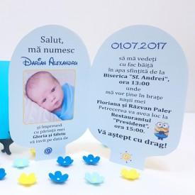 Invitatie Botez Contur Minion