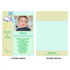 Invitatie Botez Papirus Disney Bebe 14