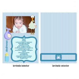 Invitatie Botez Papirus Disney Bebe 19