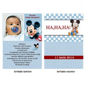 Invitatie Botez Papirus Disney Bebe 29