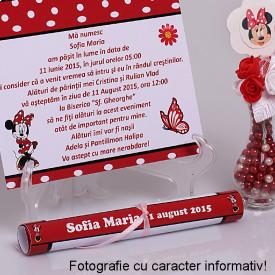 Invitatie Botez Papirus Disney Bebelina 3