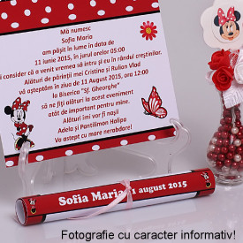 Invitatie Botez Papirus Scufita Rosie