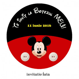 Invitatie Botez Rotunda Mickey Mouse 3