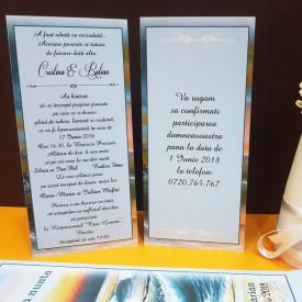 Invitatie Nunta Ciocolata Mare Albastra
