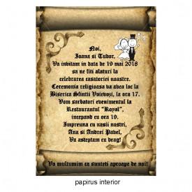 Invitatie Nunta Papirus INPAP11