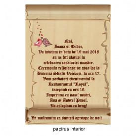 Invitatie Nunta Papirus INPAP16