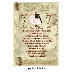 Invitatie Nunta Papirus INPAP1