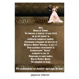 Invitatie Nunta Papirus INPAP6
