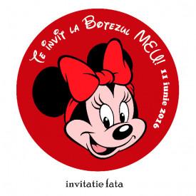 Invitatii Botez Rotunde Minnie Mouse 2