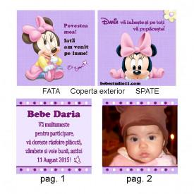 Marturie Botez Carticica 10 Foto Minnie Mouse 3