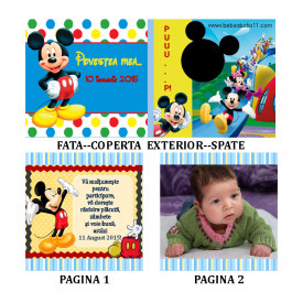 Marturie Botez Carticica 6 Foto Mickey Mouse 3