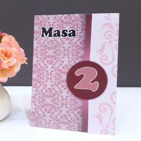 Nr de masa 2 in 1 Nunta-Botez NB3