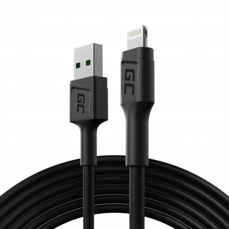 Green Cell GC PowerStream USB-A - Lightning cable 200 cm Apple MFi Certified