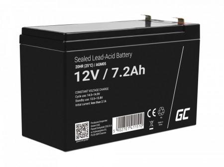 Green Cell AGM Battery 12V 7.2Ah