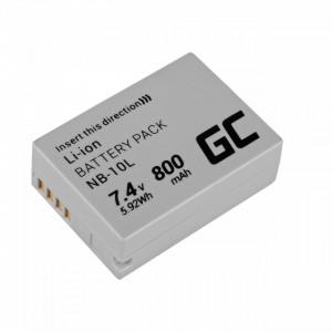 Baterie camera foto pentru NB-10L ® Canon PowerShot G15, G16, G1X, G3X, SX40 HS, SX40HS, SX50 HS, SX60 HS 7.4V 800mAh